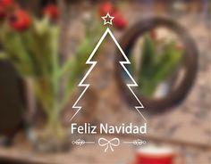 Vinilos decorativos  con diseños propios de Navidad ideales para la decoración de interiores o exteriores, escaparates o ventanas. decoración navidad casa #arbolnavideño #vinilonavidad