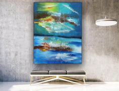 Extra Large Wall Art Abstract Painting Bedroom Decor image 2 Large Canvas Wall Art, Extra Large Wall Art, Abstract Wall Art, Colorful Paintings, Acrylic Paintings, Oversized Wall Art, Bathroom Wall Art, Office Wall Art, Large Painting