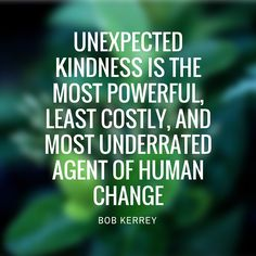Unexpected kindness is the most powerful, least costly, and most underrated agent of human change. www.tomeslawfirm.com
