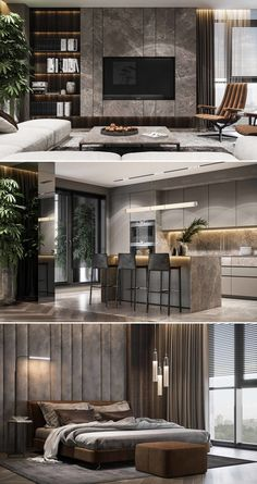 Residential interior using natural … – Typical Miracle Modern House Design, House Rooms, Minimalist Living Room Decor, Luxurious Bedrooms, Home Room Design, Living Room Design Modern, Luxury Living Room, House Interior, Apartment Interior