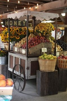 Spend time shopping at a big farmers market for fresh produce, flowers and ingredients on a beautiful day.