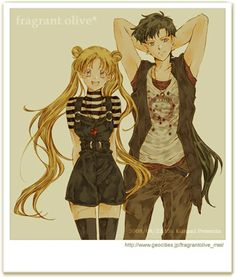 Sailor moon - usagi x seiya