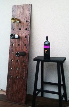 RESERVED for jgrower Plank Riddling Wine Rack by thezenartist Riddling Rack, Bois Diy, Mahogany Stain, Wine Craft, Wine Collection, In Vino Veritas, Italian Wine, Wine Storage, Wine Cellar