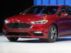 The 2017 Ford Fusion after it was revealed.