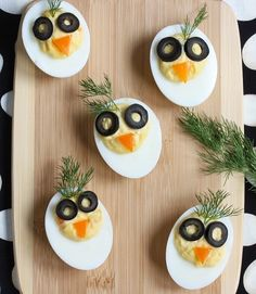 Chirp, Chirp Deviled Eggs  Adorable & Nutritious   Eggs get turned into playful chicks. So easy that anyone can make these! via @MealMakeoverMom  http://mealmakeovermoms.com/kitchen/2015/03/22/chirp-chirp-deviled-eggs-and-egg-nutrition/