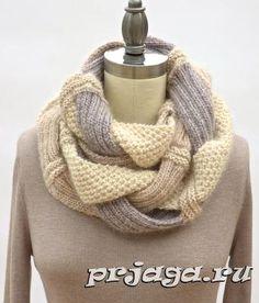 Хала-шарф - хомут спицами / Вязание спицами / Вязание спицами для начинающих