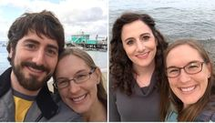 Anniversary trip to Catalina Island, two years apart. Transgender People, Transgender Girls, Lgbt Couples, Cute Couples, Trans Mtf, Mtf Before And After, Feminized Husband, Mtf Transition, Male To Female Transformation