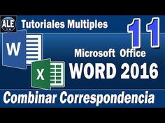 Curso Word 2016 | COMBINAR CORRESPONDENCIA | Como Combinar Correspondencia en Word con Excel Cap. 11 - YouTube Microsoft Office, Microsoft Word, Word 2016, Village People, Training And Development, Spin, The Good Place, Software, Geek Stuff