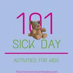 101 #Sick Day Activities for #Kids
