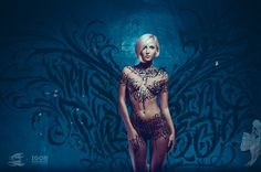 Calligraphy on girls: session #7: Industrial Princess. by Pokras Lampas, via Behance
