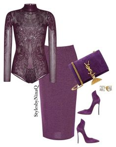 """""""Untitled #800"""" by nina-quaranta on Polyvore featuring True Decadence, Zuhair Murad, Casadei, Yves Saint Laurent, women's clothing, women, female, woman, misses and juniors"""