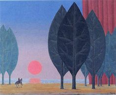 Rene Magritte, Forest of Paimpont, 1963 ❌ART : More At FOSTERGINGER At Pinterest ❇️✳️⭕️