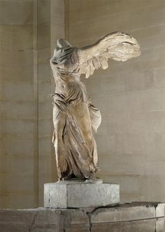 Nike of Samothrace (Victory of Samothrace), c. 200-190 BCE, marble, H: 8 feet