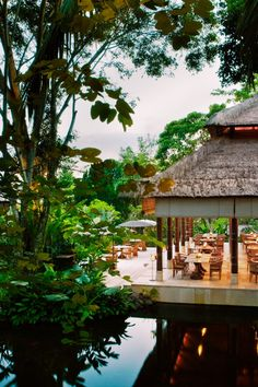 The Uma's Kemiri restaurant, one of Ubud's best, uses local ingredients creatively. #Jetsetter Uma by Como Ubud