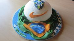 Cake for a young Brazil football fan