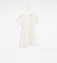 Guipure lace dress from Zara