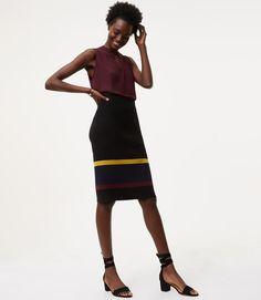 Облегающая юбка с завышенной талией с обувью на блочном каблуке