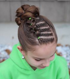 For Isabelle's hair - Kinderfrisuren Kids Updo Hairstyles, Girls Hairdos, Baby Girl Hairstyles, Wedding Hairstyles, Teenage Hairstyles, School Hairstyles, Everyday Hairstyles, Wedding Updo, Natural Hair Styles For Black Women