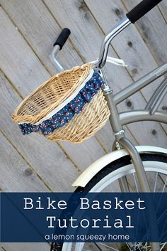 Bike Basket Tutorial - @Laura Webb - I think your pink beach cruiser needs one!  But with the basket spray painted pink or white, of course....