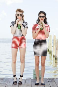 Nautical cool in red, white & blue stripes