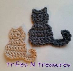 Ideas for crochet cat applique free Chat Crochet, Crochet Mignon, Crochet Motifs, Crochet Patterns, Crochet Appliques, Crochet Car, Web Patterns, Crochet Teddy, Crochet Ideas