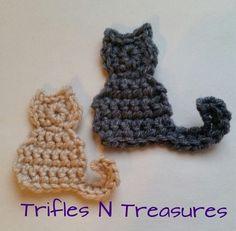 Pretty Kitties Applique~FREE Crochet Pattern ༺✿ƬⱤღ  http://www.pinterest.com/teretegui/✿༻