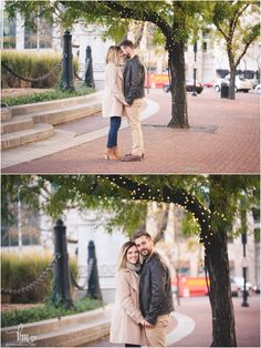 Couple under Chriastmas lights Proposal Photography, Engagement Photography, Engagement Photos, Wedding Couples, In This Moment, Lights, Engagement Pictures, Lighting, Engagement Shoots