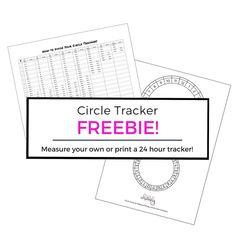 Measure your circles perfectly with this measurement guide! Or print your own 24 Hour Circle Tracker for your journal