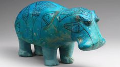 """""""William"""" the Hippopotamus sculpture, dated from Ancient Egypt's Middle Kingdom, circa BCE. """"William"""" is the unofficial mascot of the Met Museum Ancient Egyptian Art, Ancient History, Art History, History Essay, History Major, Egyptian Pharaohs, Art Africain, Ancient Artifacts, Metropolitan Museum"""