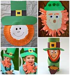 Here are a bunch of leprechaun crafts for kids to make! These are fun St. Patricks Day art projects for them to make!