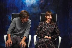 Literally in love with Diego Luna and Felicity Jones...aka Cassian Andor and Jyn Erso!