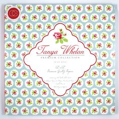 """Craft Consortium 12""""x12"""" premium paper pad 'Wild Rose' designed in partnership with World renowned, fabric, product, pattern designer and author Tanya Whelan"""