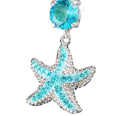 Aquamarine Starfish I love the color! Cute Bellybutton Rings, Cute Belly Rings, Belly Button Piercing, Belly Button Rings, Cute Piercings, Body Piercings, Cute Jewelry, Body Jewelry, Jewelry Accessories