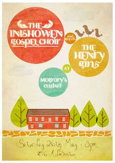 zoocreative | poster art on behalf of Inishowen Gospel Choir. 2013.