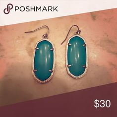 Turquoise Danielle Earrings Kendra Scott Turquoise and gold Kendra Scott Danielle Earrings. The smaller size. Only wore a couple times so I'm wonderful condition Kendra Scott Jewelry Earrings
