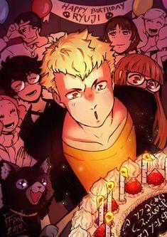 Persona 5 Joker, Persona 4, Ryuji Sakamoto, First Animation, Anime Characters, Fictional Characters, Manga Games, Game Character, Game Art