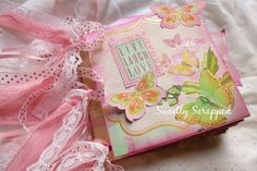Live, Love, Laugh Album This album measures just over 5 inches by 5 inches and is very sweet... It is a paper bag album, with plenty of pock...
