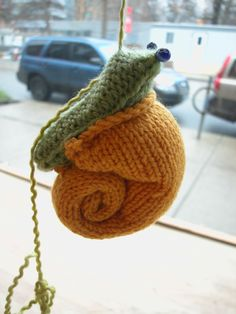 free pattern for knitted snail