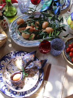 At Home Italian Easter by Francesca Easter Table Settings, Easter Food, Table Set Up, Italian Recipes, Seaside, Food Porn, Weather, Houses, Times