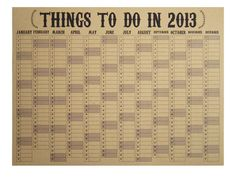 2013 Eco Wall Planner/Study Calendar by STNstationery on Etsy, Wall Planner, Family Planner, Study Planner, Study Calendar, Calendar Ideas, Cool Stationery, Stationary, Stuff To Do, Things To Do