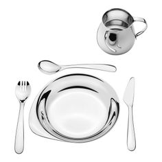 Scandinavian designed dinnerware, plates, drinking glasses and dishes. Visit the online store for easy shopping and beautiful gift wrapping. Stainless Steel Cutlery, Christening Gifts, Baptism Gifts, Cutlery Set, Dining Set, Kitchen Dining, Dinner Plates, Things To Buy, Dinnerware
