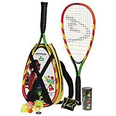 Speedminton Set - Original Speed Badminton / Crossminton Starter Set including 2 rackets, 3 S Best Badminton Racket, Badminton Set, Tennis Racket, Badminton Birdie, Lawn Games, Backyard Games, Outdoor Games, Beach Games For Adults, Tennis Nets