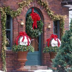 Décoration Noël extérieur traditionnelle
