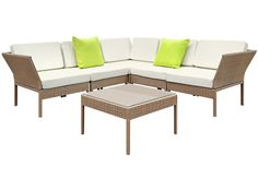Aloha 6 Piece Stackable PE Rattan Outdoor Lounge Set by Dwell Outdoor. Get it now or find more Outdoor Sofas & Lounge Sets at Temple & Webster. Outdoor Lounge, Outdoor Decor, Outdoor Settings, Wicker, Outdoor Furniture Sets, Beige, Brown, Disappointed, Balcony