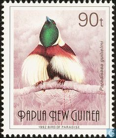 Postage Stamps - Papua New Guinea - Bird Of Paradise