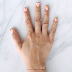 Nail Art Inspired By The Fall 2015 Collections | Prada pink and gold color block perfection