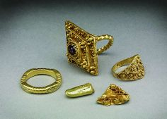 A group of Early Medieval gold objects from West Yorkshire (Report: No. 182). Date: c.600-c1100 (burial poss?)