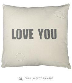 Sugarboo Designs Love You Canvas Pillow