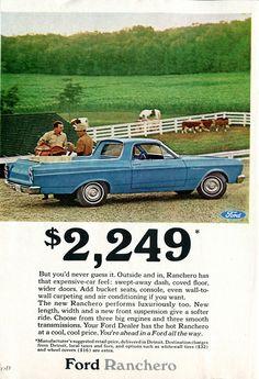 1966 Ford Ranchero Advertisement Readers Digest...
