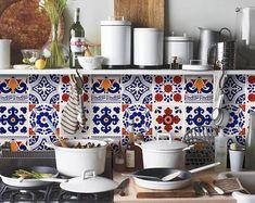 Tile Decals Tiles for Kitchen/Bathroom Back splash Floor | Etsy Bathroom Splashback, Kitchen Backsplash, Kitchen Cabinets, Dark Cabinets, Backsplash Ideas, Kitchen Sink, Mosaic Tile Stickers, Tile Decals, Mosaic Tiles